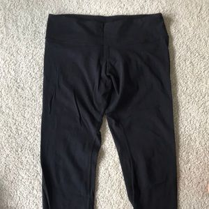 Lulu black Capri leggings. Size 12